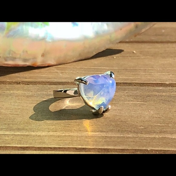 """natural healing gems Jewelry - Opalite """"Purify Your Heart"""" Gemstone Ring size 6"""